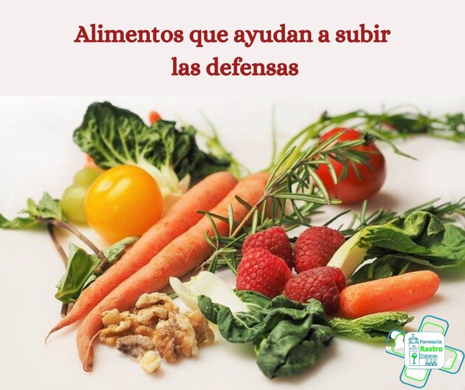 Alimentos que ayudan a subir las defensas